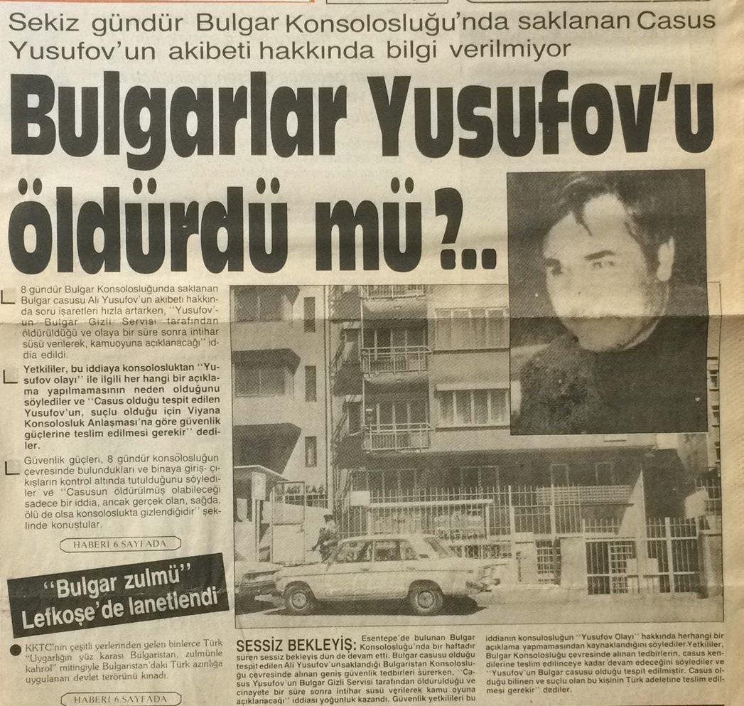 Bulgar casus krizi 1985 yılında uzun süre konuşulmuştu.