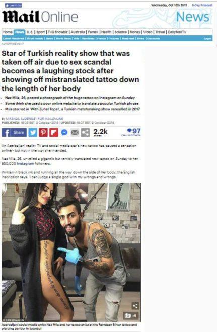 Daily Mail haberi böyle verdi.