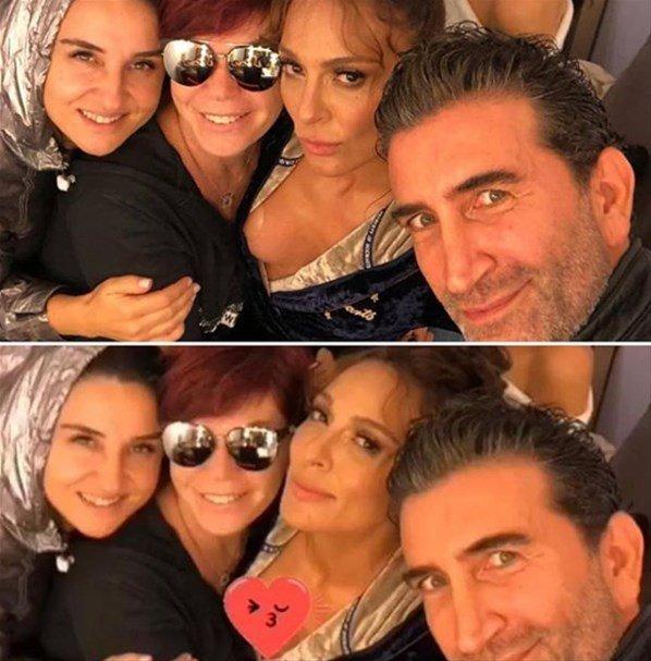 Emel Müftüoğlu geçen hafta Ziynet Sali ile bir fotoğraf paylaşmış ama Sali'nin göğsü göründüğü için emoji koyup yeniden paylaşmıştı...