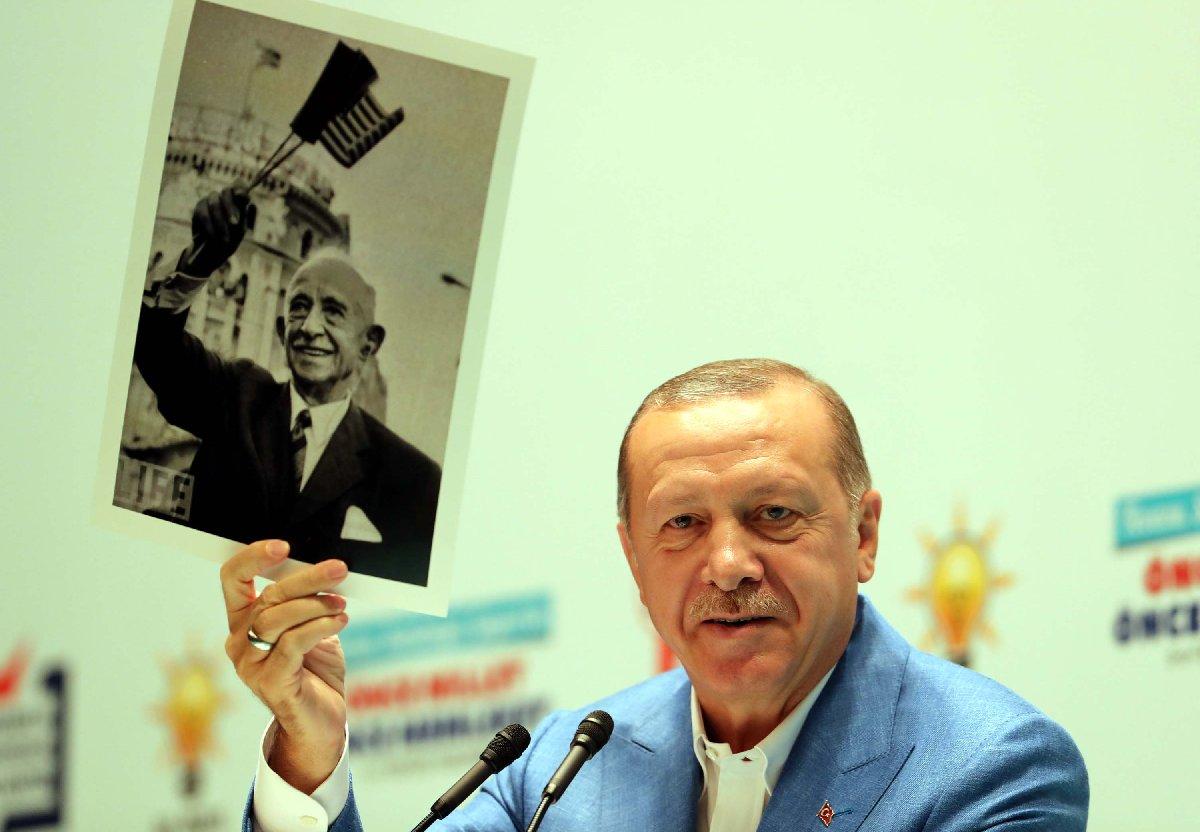 Erdoğan Kızılcahamam'da o fotoğrafı böyle göstermişti. DHA