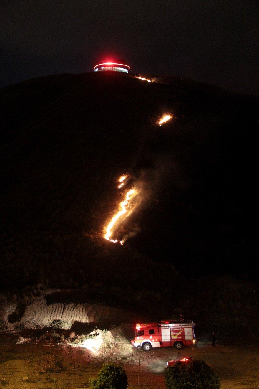Yangında hektar alan kül oldu. İHA