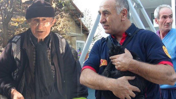 Mustafa dedenin acı sonu: Kedisi kurtuldu, kendisi kurtulamadı