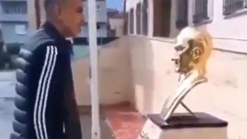 Atatürk büstüne saldırıda 2 tutuklama