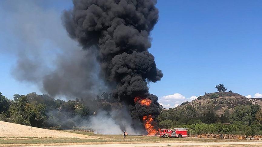California'da 24 saatte 2 uçak kazası
