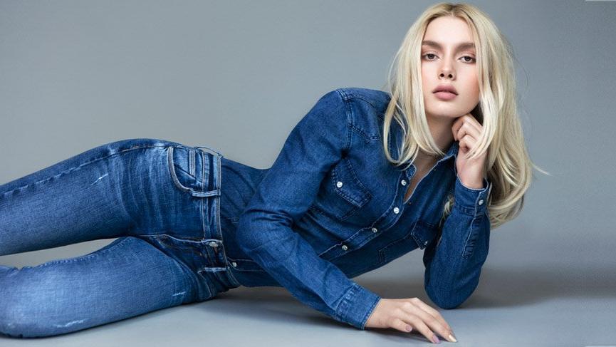 Aleyna Tilki, ünlü bir jean markasının yüzü oldu
