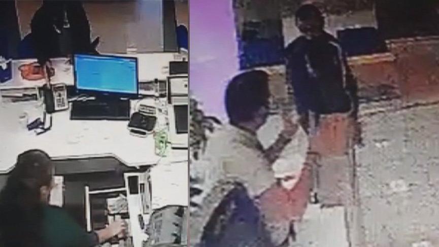 Sancaktepe'deki banka soygunu güvenlik kamerasında