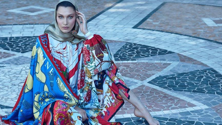 Bella Hadid Arap dergisi için türban taktı
