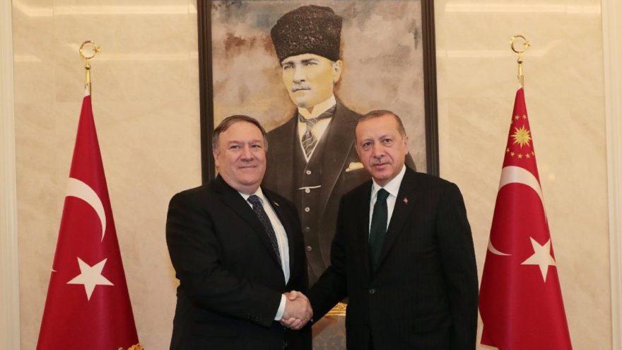 Cumhurbaşkanı Erdoğan'la görüşen Pompeo: Endişeliyiz, elçilik çalışanını gündeme getiriyoruz