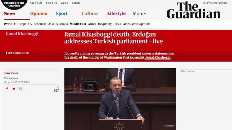 Erdoğan Kaşıkçı olayını anlattı dünya canlı izledi… Guardian: Bazı detayları açıklamadı