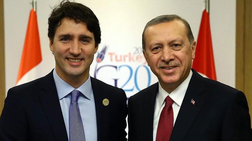Cumhurbaşkanı Erdoğan Kanada Başbakanı Trudeau ile Kaşıkçı cinayetini konuştu