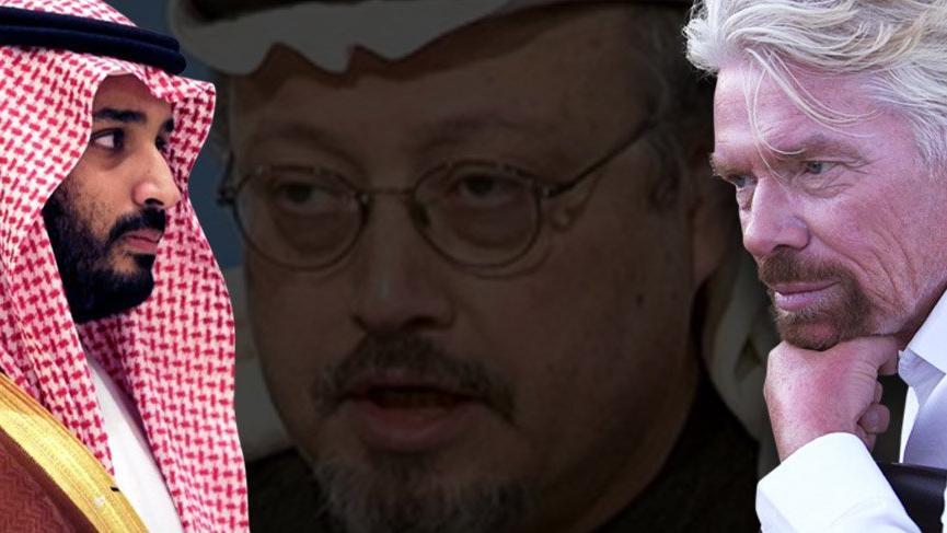 Sör Richard Branson Suudi Arabistan'daki işlerini durdurdu