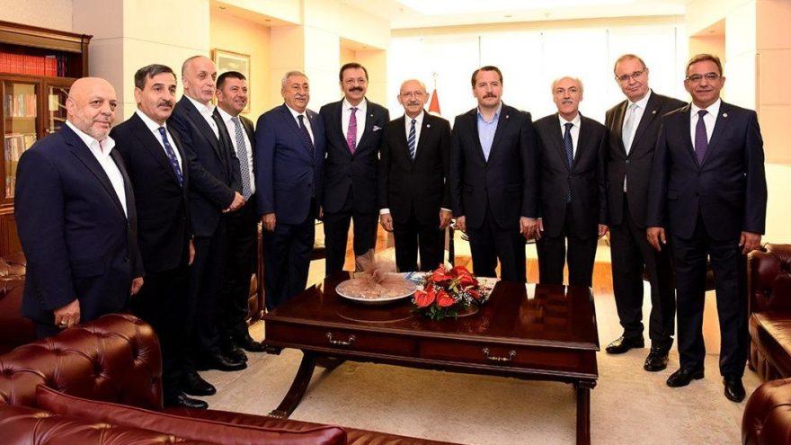 Kılıçdaroğlu, TOBB Başkanı Hisarcıklıoğlu başkanlığındaki heyeti kabul etti