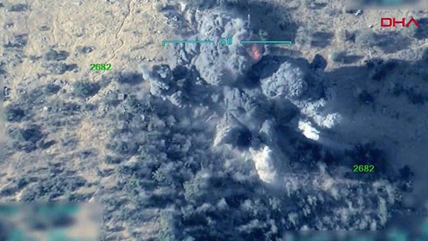 Irak'ın kuzeyinde terör yuvaları böyle vuruldu