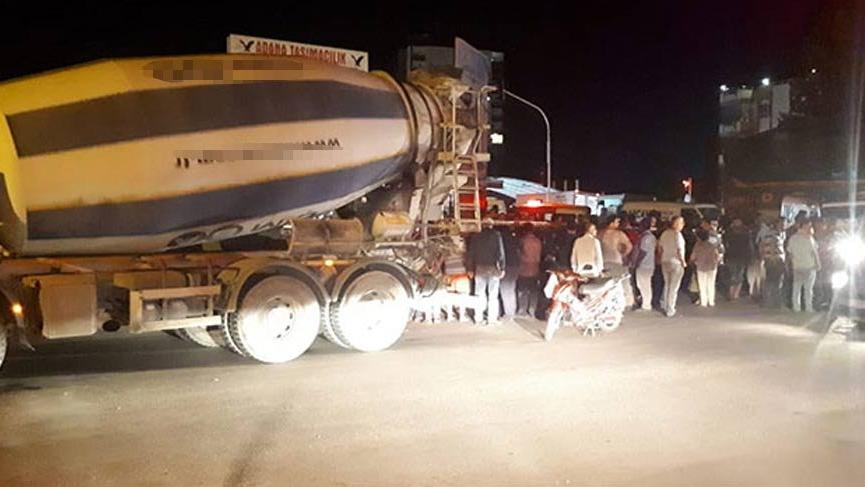 Adana'da beton mikseri dehşeti!