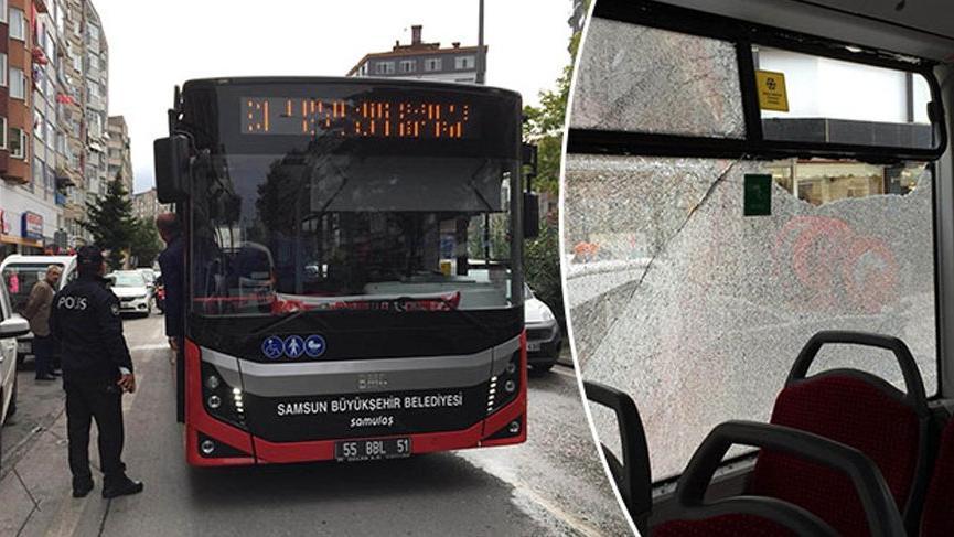 Halk otobüsünde panik anları!