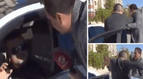Trafik cezası haberi yapan muhabire tekme tokat dayak