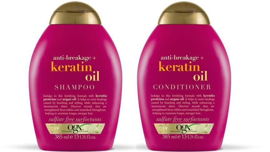 Kökten uca beslenen saçlar için; OGX Keratin Oil