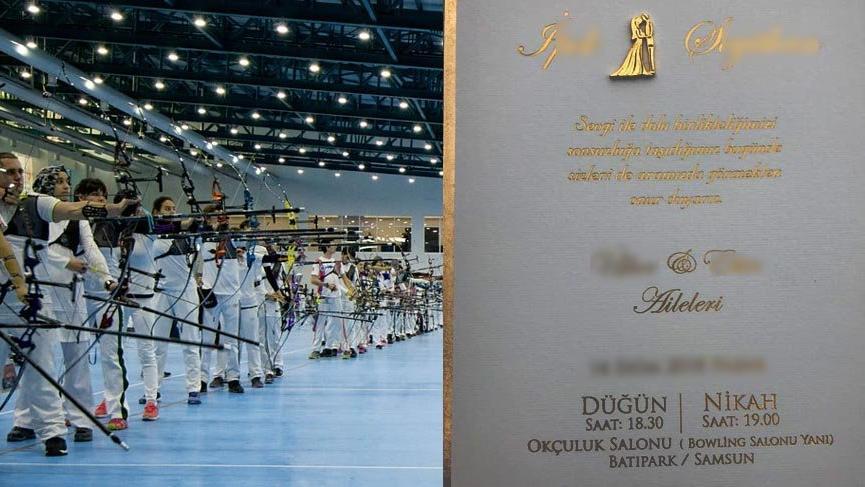 Olimpiyat için yapılan Okçuluk Salonu, düğün salonu oldu