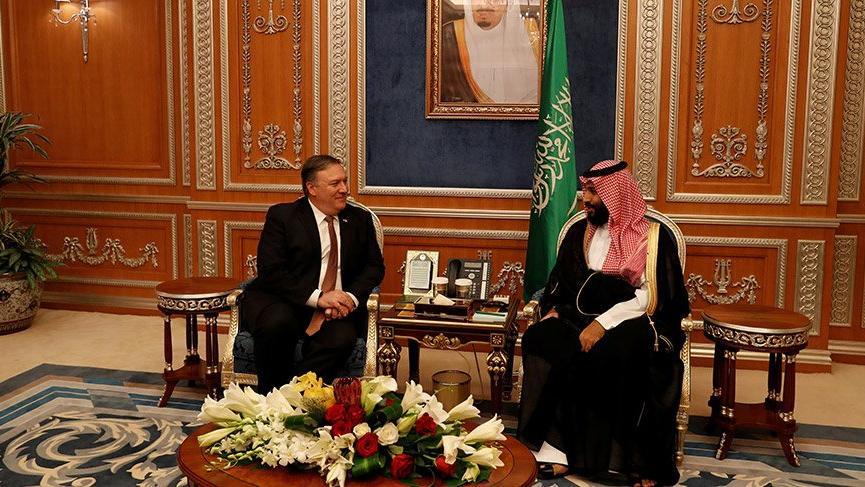 Pompeo, Suudi Kral'dan sonra Veliaht Prens Selman ile görüştü!