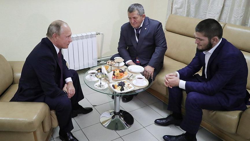 Putin, Habib Nurmagomedov ile görüştü!