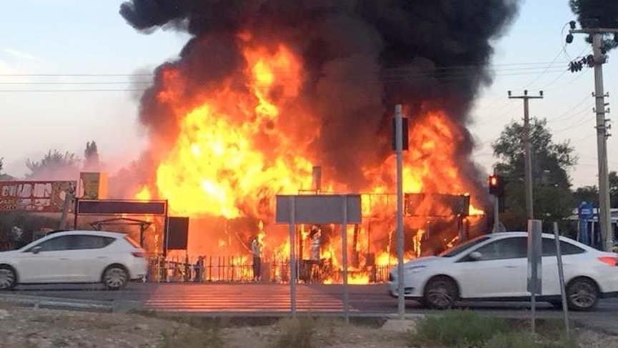 Antalya'da restoran yangını