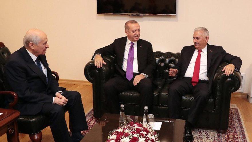 Erdoğan ile Bahçeli arasında sürpriz görüşme