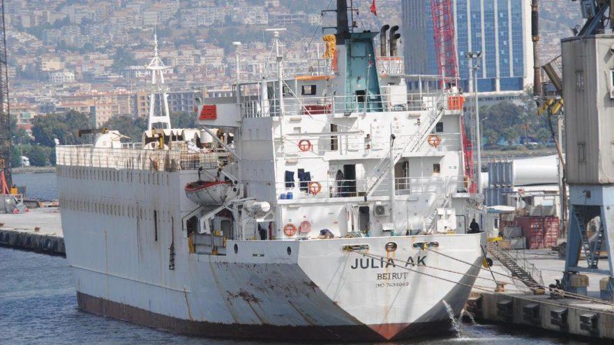 İzmir'e gemi ile 5 bin 391 angus getirildi