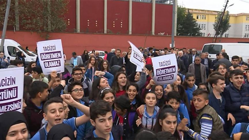 Okulda 'taciz' iddialarına protesto!