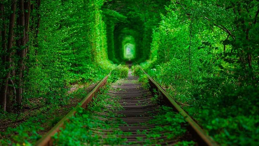 Ukrayna'da eşsiz bir durak: Aşk Tüneli