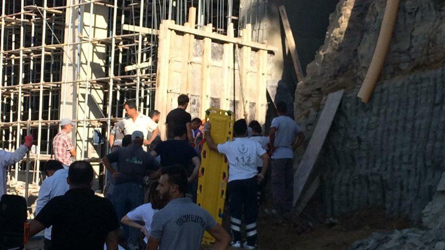 Çöken inşaat duvarının altında kalan işçilerden 1'i hayatını kaybetti. DHA