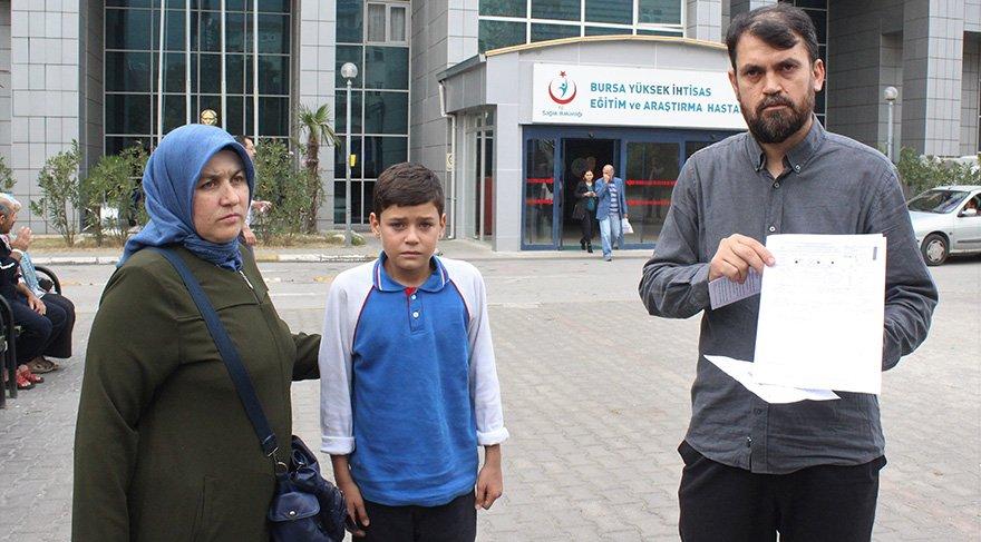 Talihsiz çocuk hastanedeki tedavisinin ardından taburcu edildi. Foto: İHA