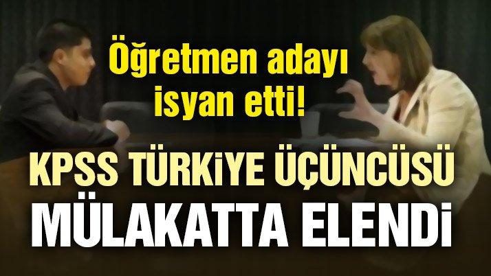 Son dakika haberleri | KPSS'de Türkiye üçüncüsü olup mülakatta elenen öğretmenden flaş açıklama!