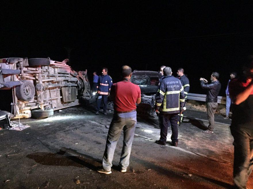 Kazada 14 kişi yaralandı. İHA
