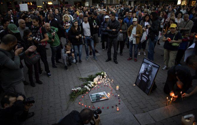 Marinova'nın ölümünün ardından anma töreni düzenlendi.