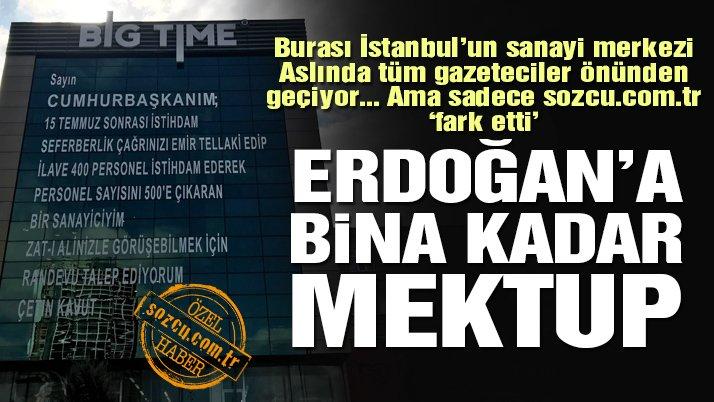 İş adamının isyanı: Erdoğan'a bina kadar mektup yazdı