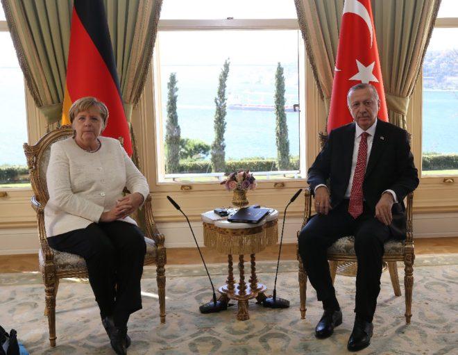 Cumhurbaşkanı Erdoğan ve Angela Merkel