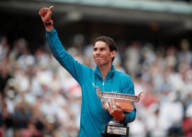 Rafael Nadal dünya sıralamasında 1. sırada yer alıyor.