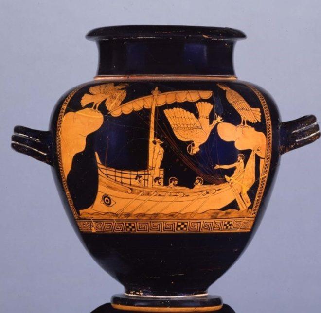 İngiltere'deki müzede sergilenen vazo.