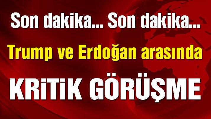 SON DAKİKA... Erdoğan Trump'la görüştü
