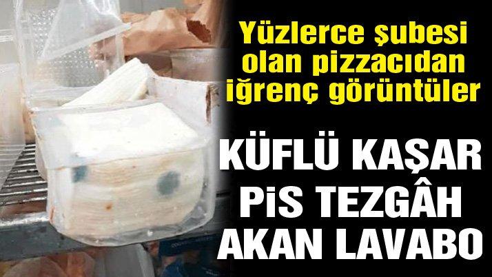 Dünyaca ünlü pizza zincirinden mide bulandıran görüntüler… Türkiye'de de şubesi var