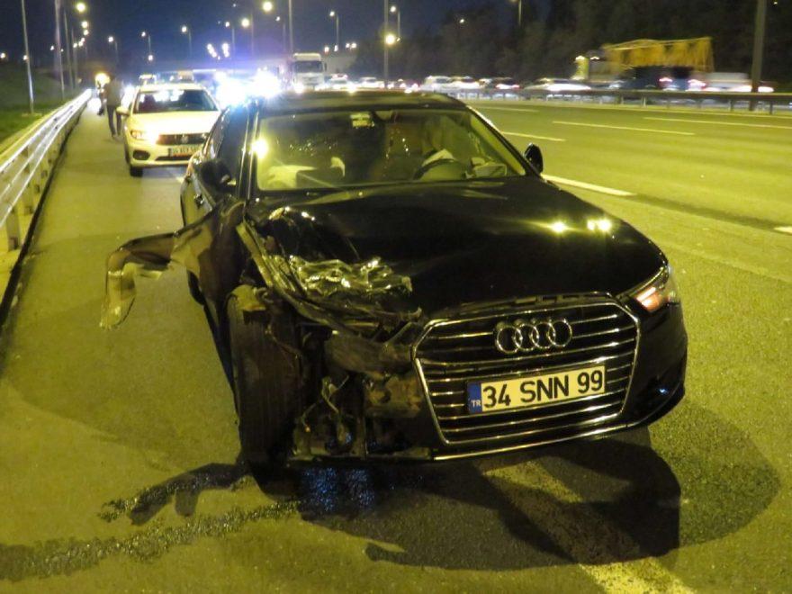 Kaza sonucu 5 kişi yaralandı. DHA
