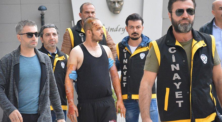 Hastanedeki tedavisi biten Ümit V. tutuklandı. Foto: DHA