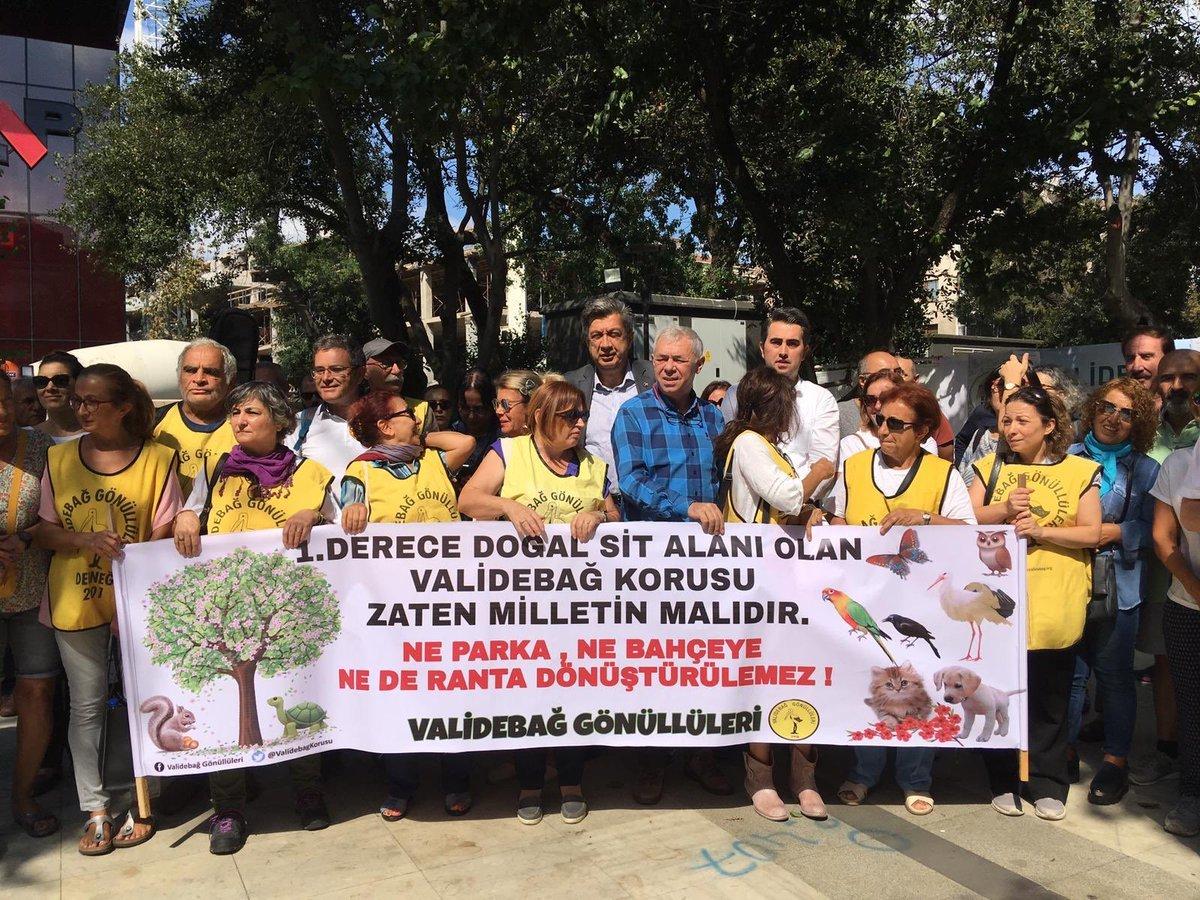 Validebağ Gönüllüleri millet bahçesi projesine karşı protesto gösterisi yapmışlardı