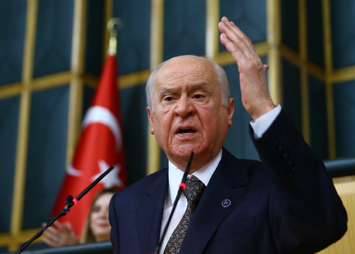 FOTO:AA - Bahçeli partisinin grup toplantısında, Diyanet İşleri Başkanı'nın ziyaretini değerlendirdi.