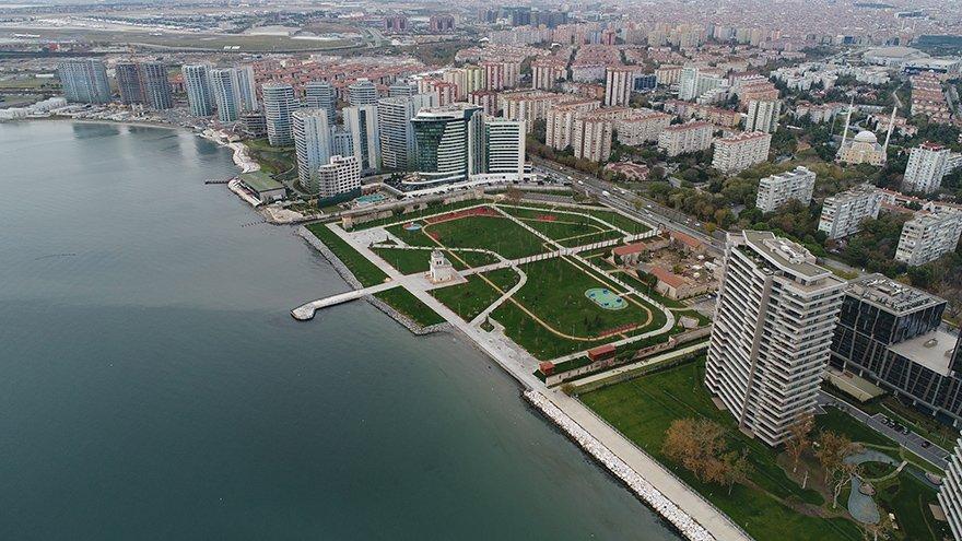 """Ataköy sahilindeki son boş parsel olan Baruthane arazisindeki çalışmalar tamamlandı ve hafta sonunda """"Millet Bahçesi"""" olarak kullanıma açılacak"""