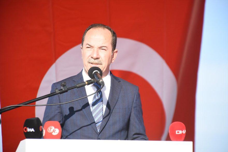 Başkan Özkan açılışta konuşma gerçekleştirdi. DHA