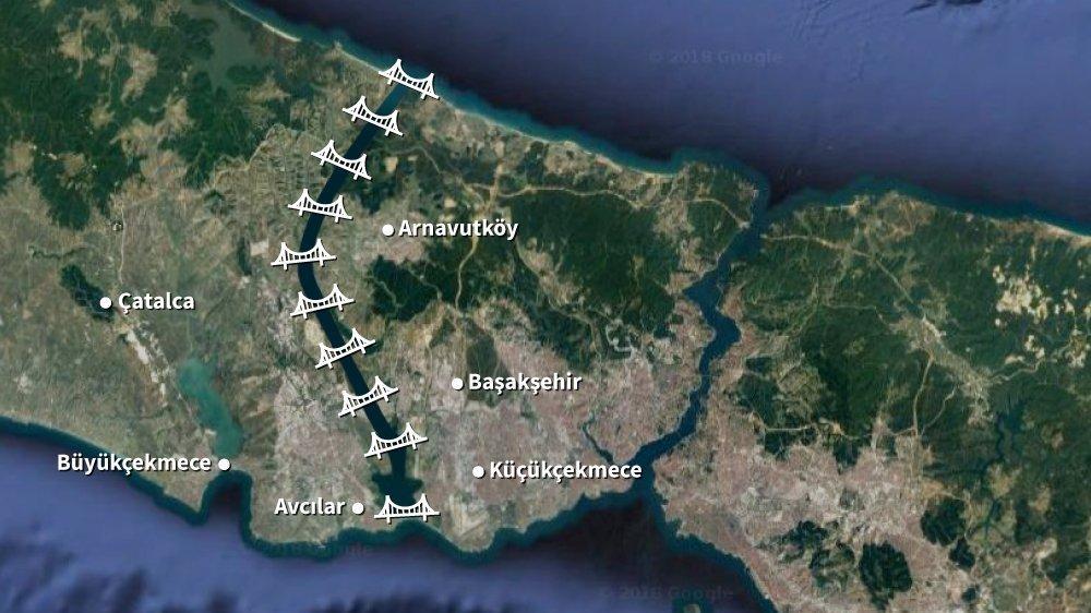 Son dakika: Kanal İstanbul'a 10 yeni köprü!