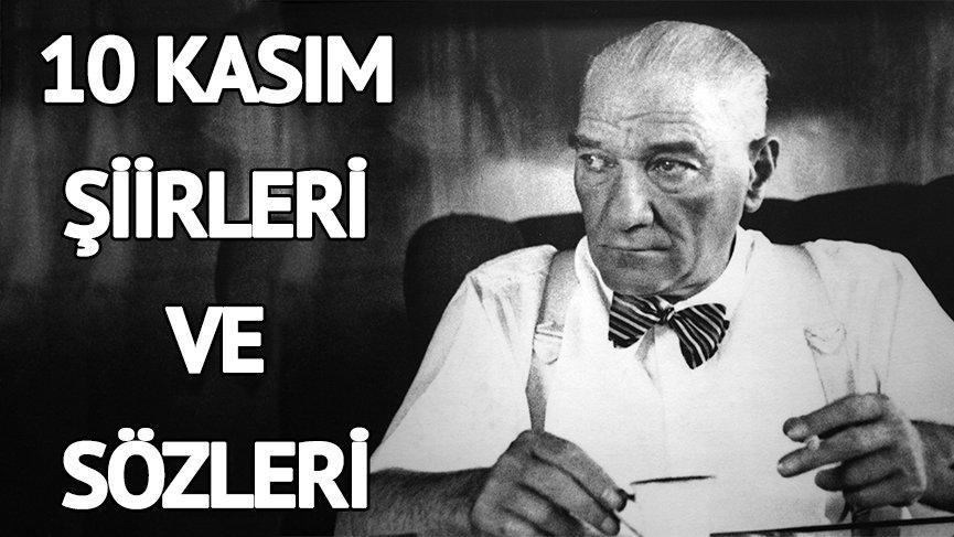 10 Kasım Atatürk mesajları: 10 Kasım Atatürk'ü anma şiirleri ve sözleri! Mustafa Kemal Atatürk'ü saygıyla anıyoruz…
