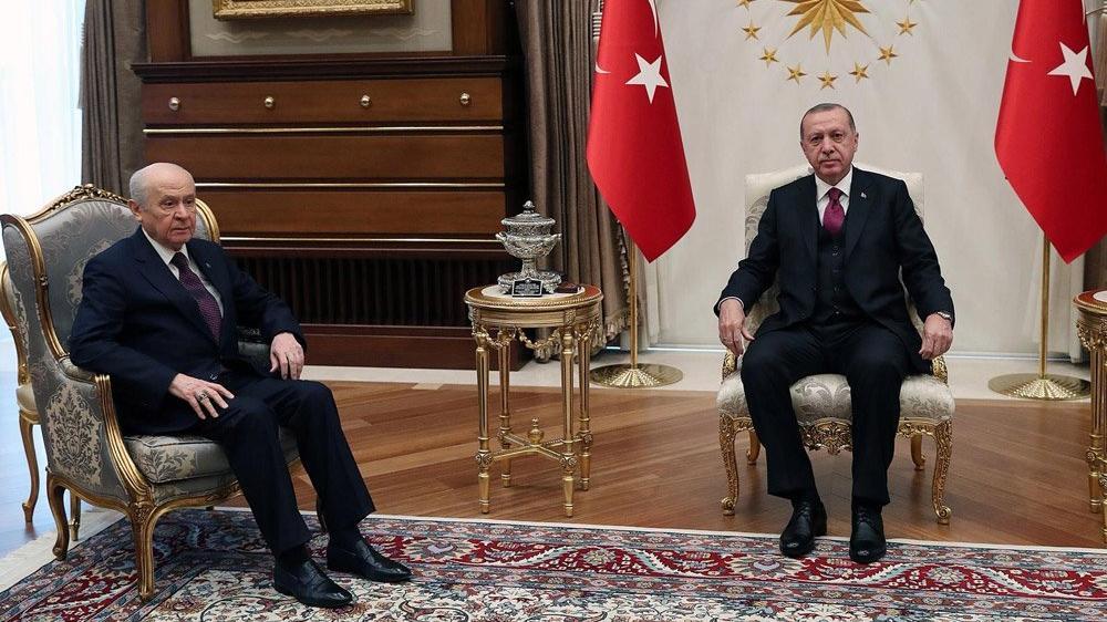 Erdoğan-Bahçeli 'ittifak' görüşmesi sona erdi