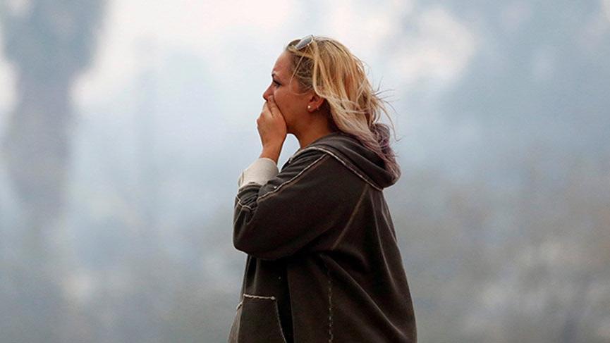 California'daki yangının dehşet verici fotoğrafları yayınlandı